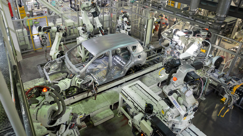 Today is all about manufacturing and services