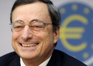 One of the few times that Mario Draghi sounds upbeat and the Euro takes off