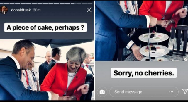 Even Donald Tusk is poking fun at Theresa May