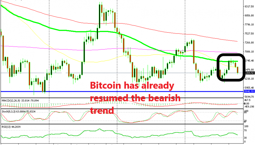 Bitcoin reversed right at the 100 SMA