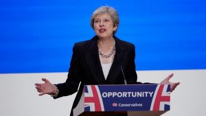 Theresa May Between a stone and a hard place