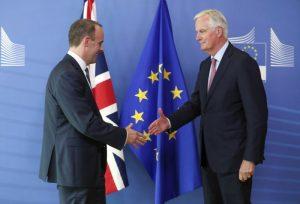 The goodbye handshake between EU and the UK