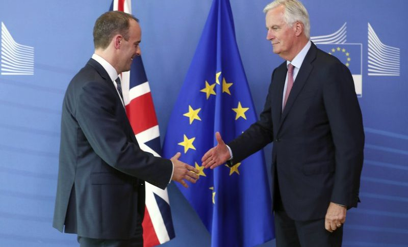 The goodbye handshake between EU and the UK