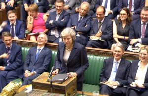 The state of the British Commons during May's speech
