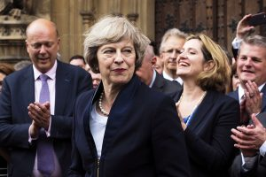 Theresa May's support is growing today in the Conservative Party