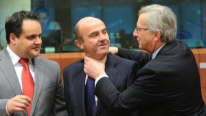 Looks like ECB and EU officials are strangling each other