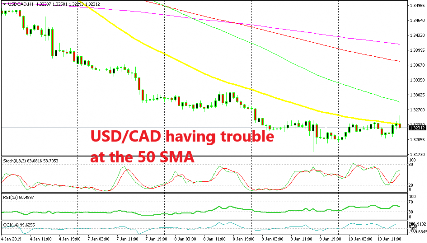 USD/CAD still undecided at the 50 SMA