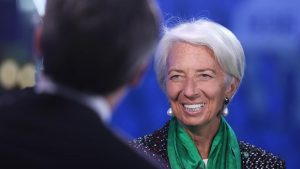 IMF's Lagarde feels optimistic about global economy but the only thing shining are her teeth