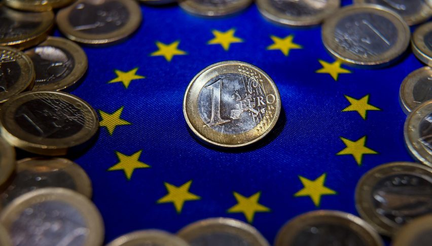 The Euro is sinking on weaker GDP growth forecasts