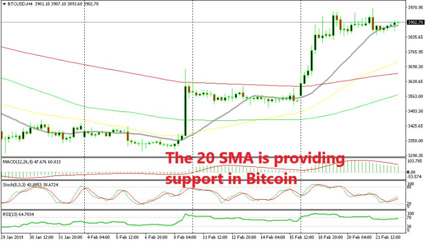 Until the 20 SMA is broken, Bitcoin remains bullish