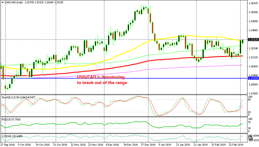 The 50 SMA is in danger now on the daily chart