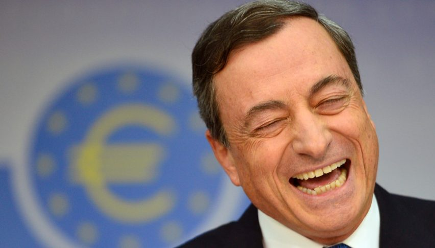 Let's see if Draghi will be so smiley now during the press conference