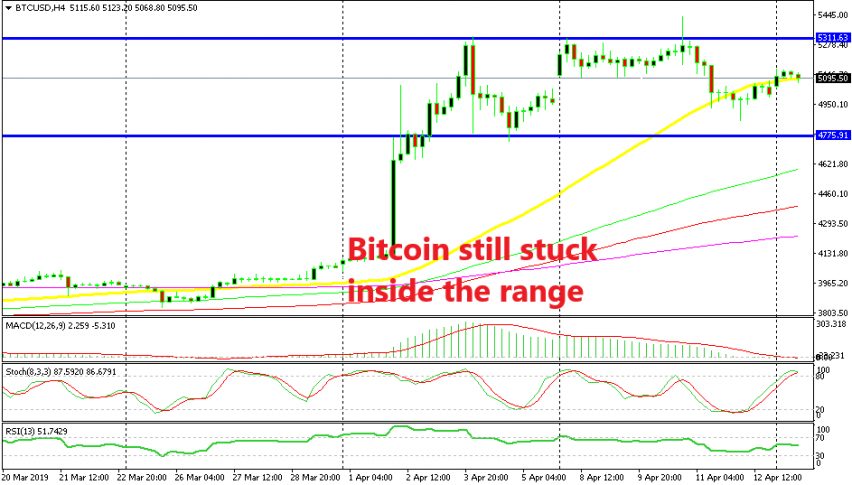 Bitcoin is flirting with the 50 SMA