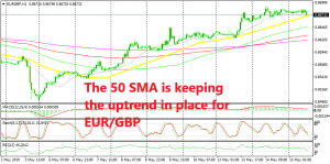 EUR/GBP is trying to make its mind now