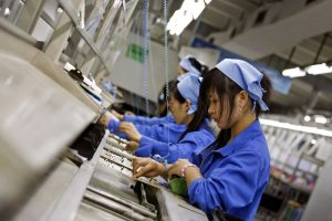 Manufacturing is the most important sector in China