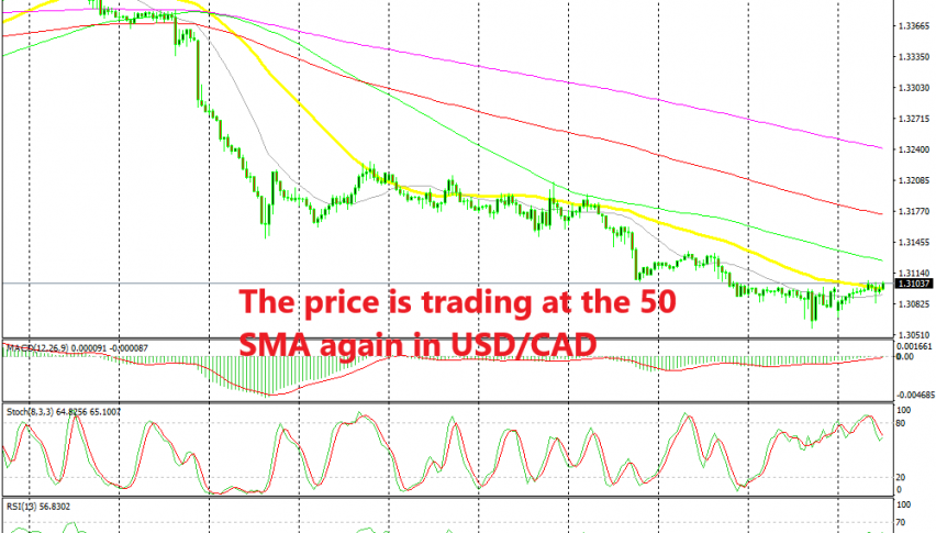 Will USD/CAD turn bearish again at the 50 SMA?