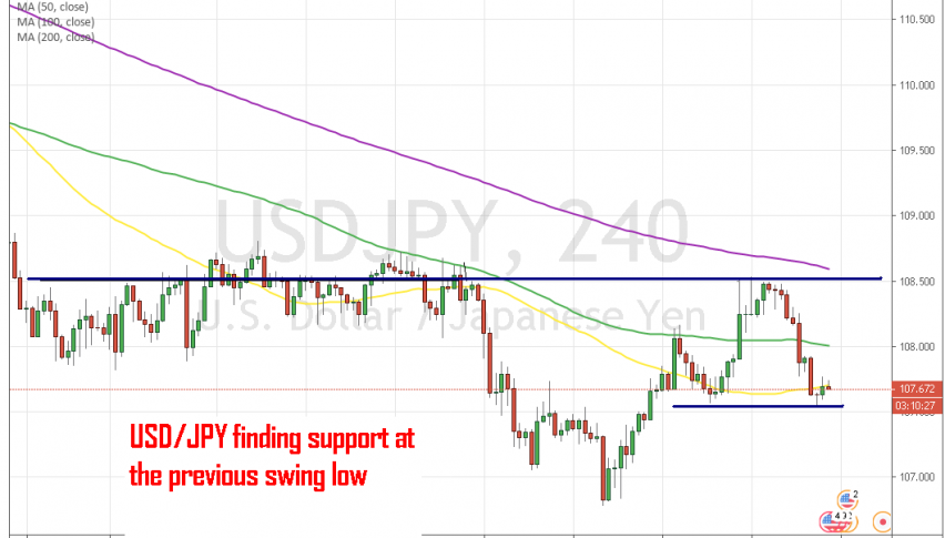 Will USD/JPY reverse again at the 50 SMA?