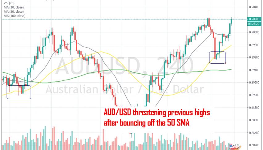 The Aussie continues the bullish run