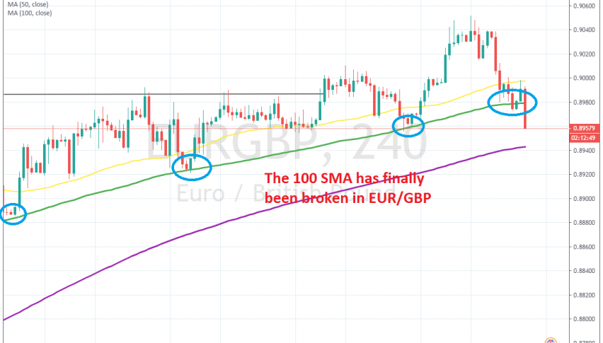 The 50 SMA turned from support into resistance this time