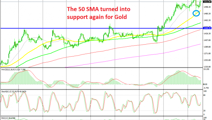 The bullish trend continues for Gold