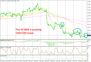 The pullback higher is complete on he H1 chart