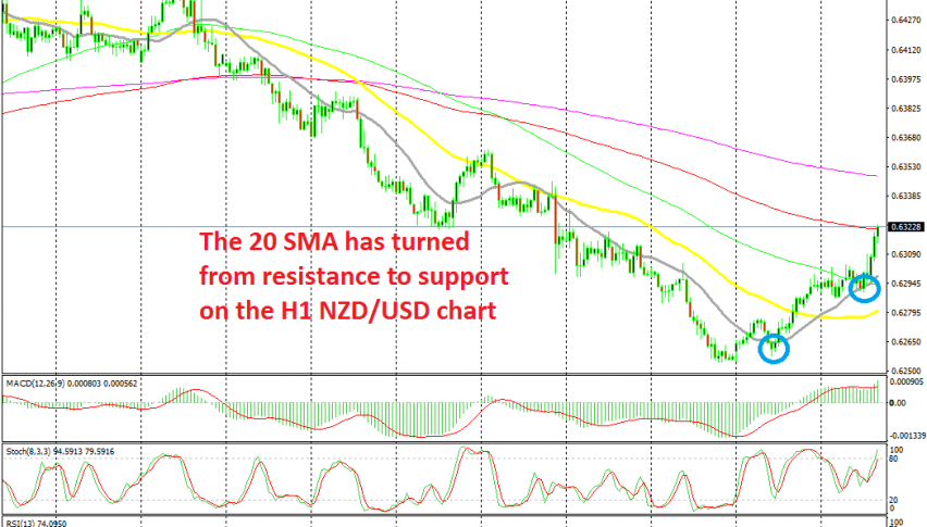 Buyers remain in control as long as the price stays above the 20 SMA