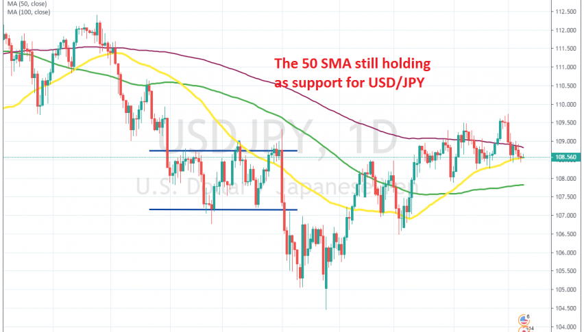 The trend is still bullish as long as the 50 SMA holds