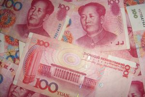 Chinese yuan in focus