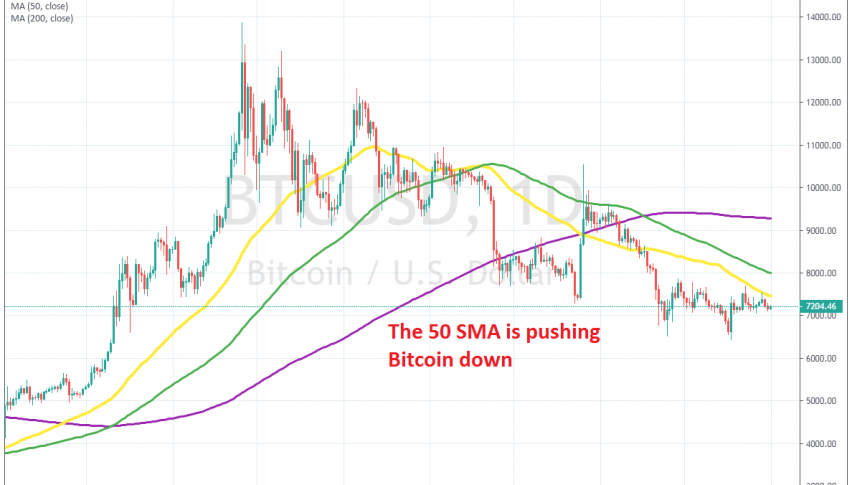The trend is still pretty bearish on the daily chart