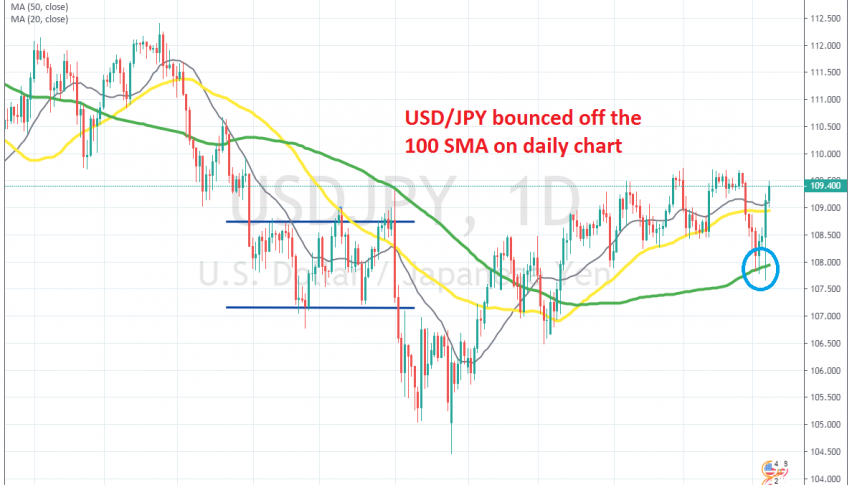 Buyers remain in control on USD/JPY