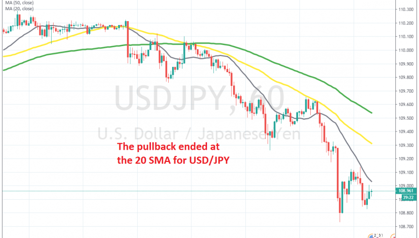 We will try to sell pullbacks higher