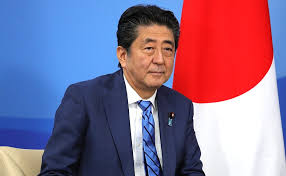 Shinzo Abe doing the ritual