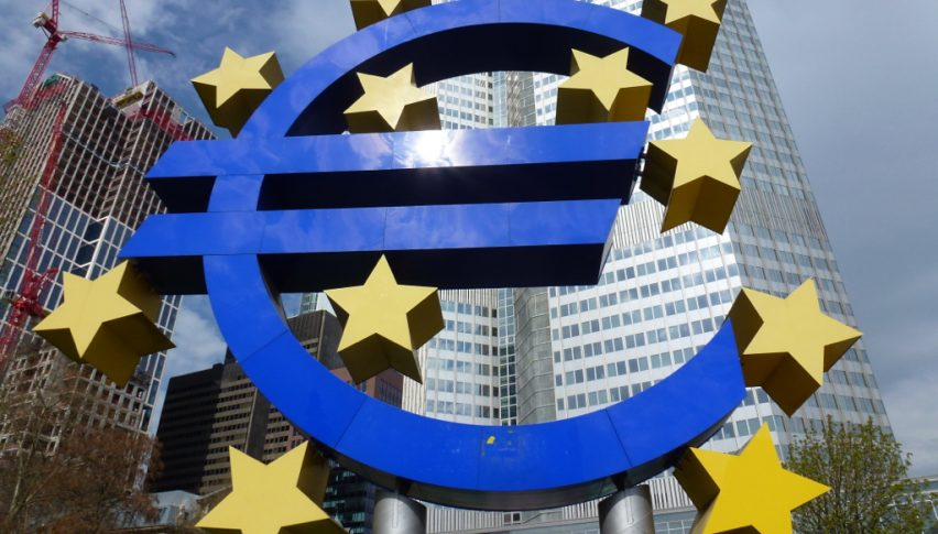 The ECB sounding less worried today, after the panic earlier this week