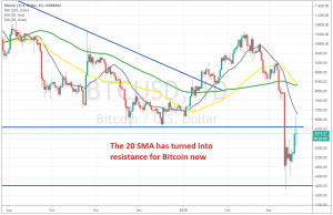 Looks like the 20 SMA killed this bounce on the daily chart