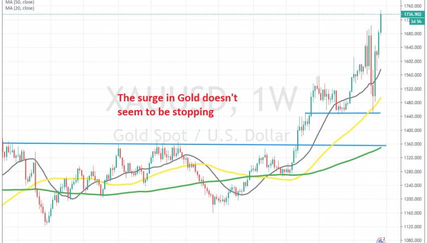 Last month's highs have been broken in Gold