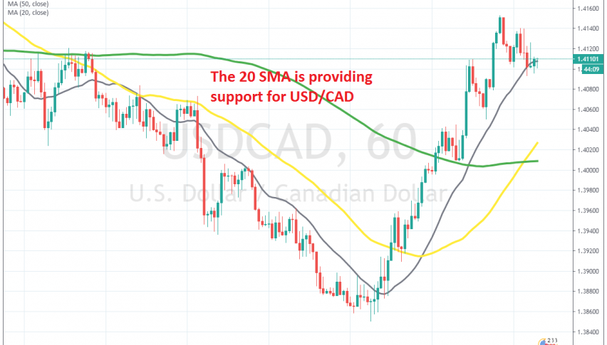 The pullback is complete for USD/CAD