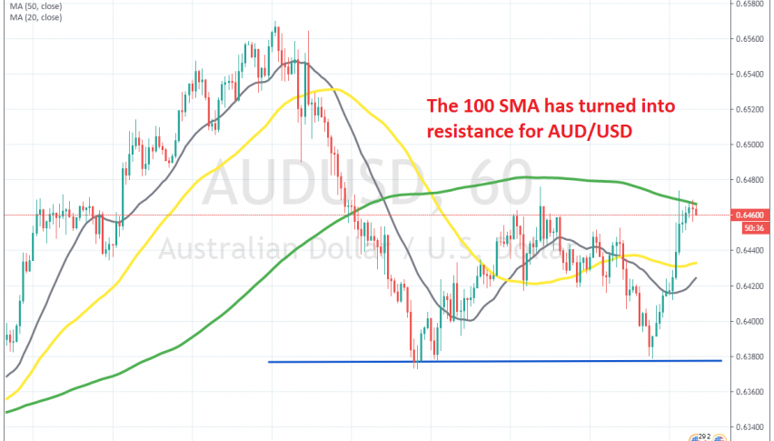 The pullback seems complete on the H1 chart