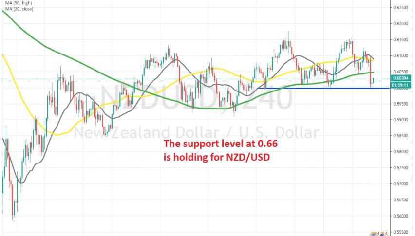 A bullish reversing pattern in NZD/USD