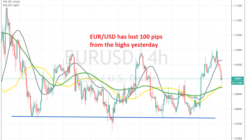 Let's see how far EUR/USD will fall