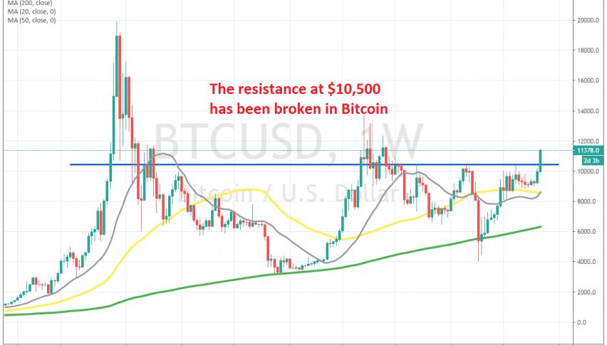Bitcoin turned bullish again this week