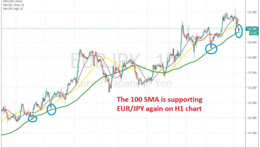The bounce took the price to our TP target, so we cashed in on this signal