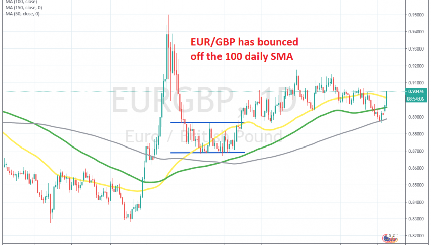 The pullback in EUR/GBP is over now