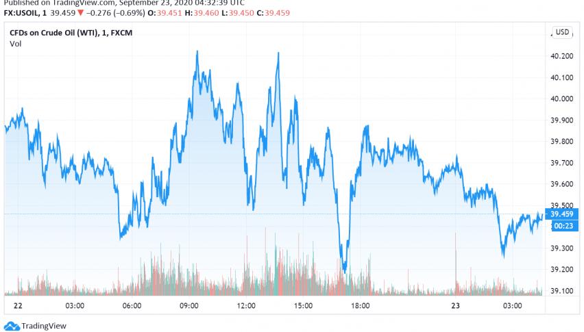 WTI Crude Oil Falls as US Crude Stockpiles Increase