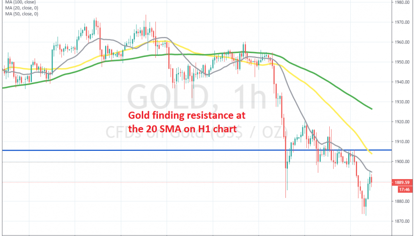 The bullish trend is resuming again in Gold