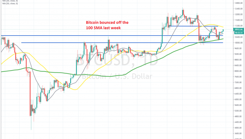 Let's see if the 50 SMA will turn into resistance again for Bitcoin