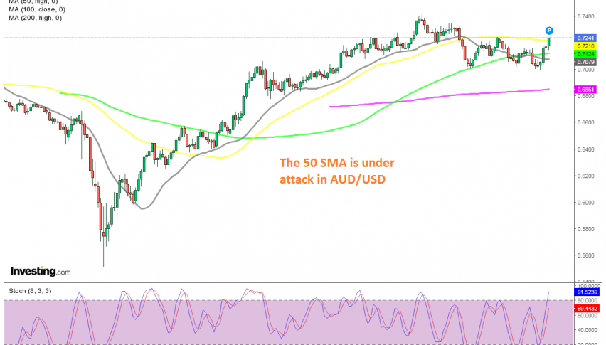 Buyers trying to resume the bullish trend on the daily chart