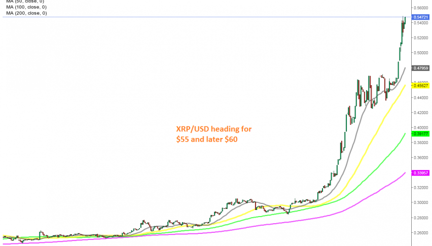 The uptrend is only picking up pace in cryptos