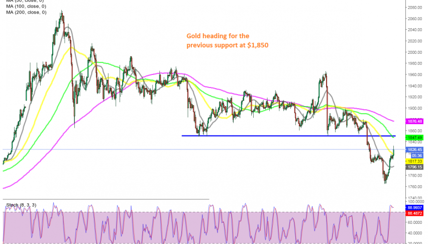 The 20 and 50 SMAs have been broken on the H4 chart