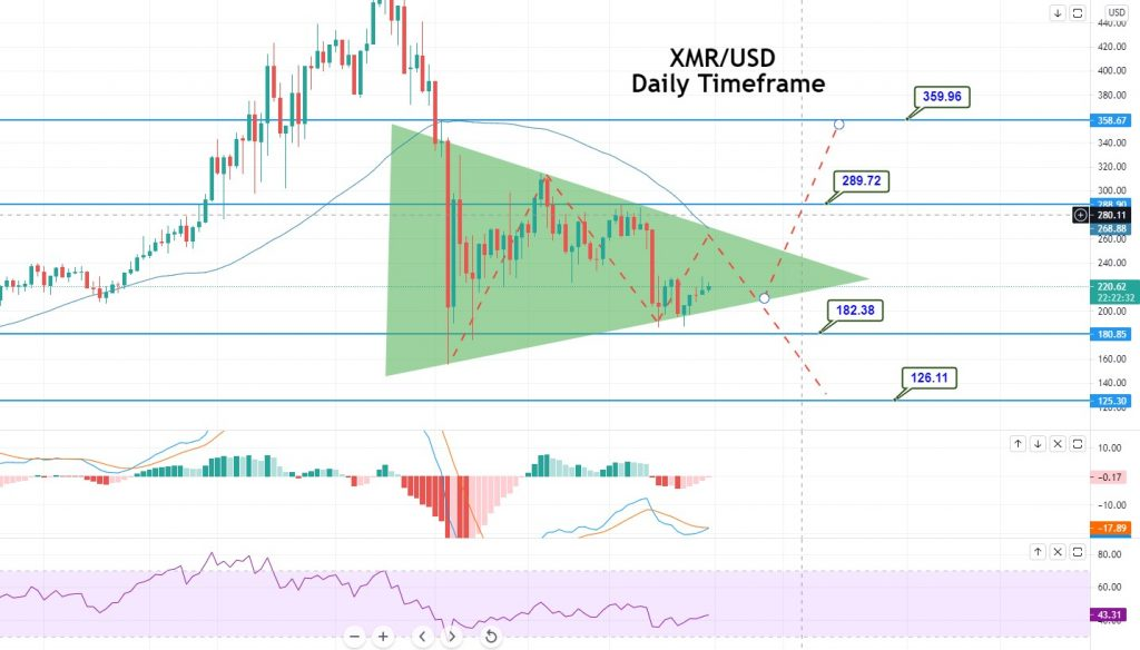 XMR/USD Daily TImeframe