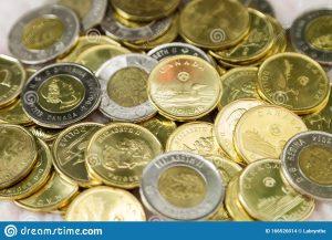 Candian dollar coin